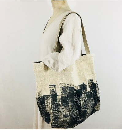 Sac besace lin/chanvre ancien