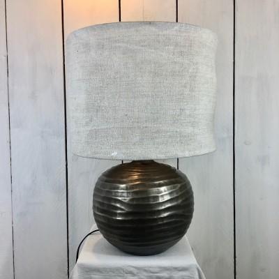 Abat-jour chanvre ancien recyclé rustique diam. 40 cm