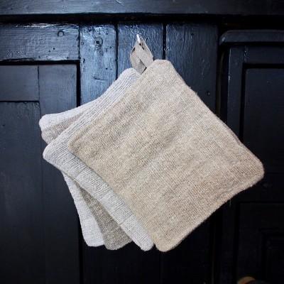 Manique tissu chanvre ancien