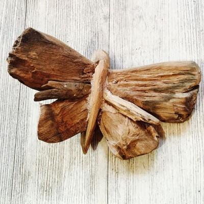 Papillon décoratif en teck