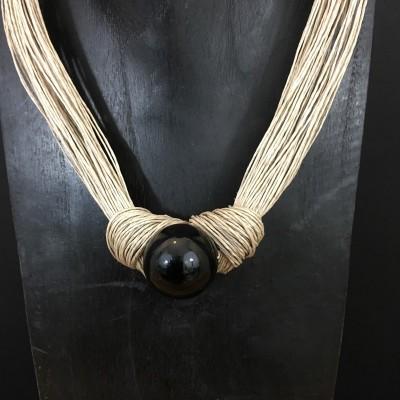 Collier fil de lin